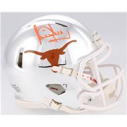 Vince Young Signed Texas Longhorns Chrome Mini-Helmet (JSA COA)