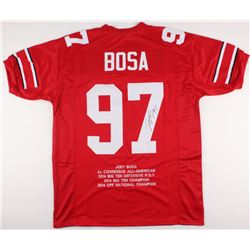 Joey Bosa Signed Ohio State Buckeyes Career Highlight Stat Jersey (JSA COA)