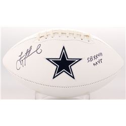 "Troy Aikman Signed Cowboys Logo Football Inscribed ""SB XXVII MVP"" (Radtke COA  Aikman Hologram)"