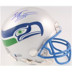 Brian Bosworth Signed Seahawks Throwback Mini Helmet (Beckett COA)