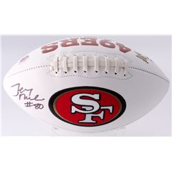 Jerry Rice Signed 49ers Logo Football (Beckett COA)