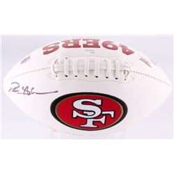 Deion Sanders Signed 49ers Logo Football (JSA COA)