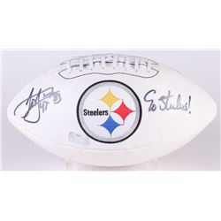 "Louis Lipps Signed Steelers Logo Football Inscribed ""Go Steelers!"" (Radtke Hologram)"