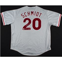 "Mike Schmidt Signed Phillies Jersey Inscribed ""HOF 95"" (JSA COA  Schmidt Hologram)"
