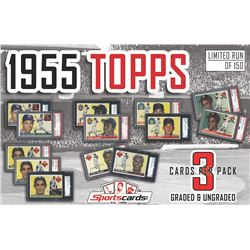 """1955 Topps Baseball SUPER PACK"" - Mystery Box - (3) Cards Per Pack! PSA  SGC Graded!"