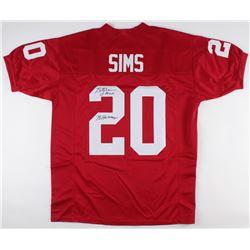 "Billy Sims Signed Oklahoma Sooners Jersey Inscribed ""78 Heisman"" (JSA COA)"