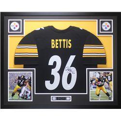 Jerome Bettis Signed Steelers 35x43 Custom Framed Jersey Display (JSA COA)