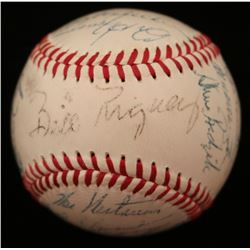 1956 New York Giants ONL Baseball Team-Signed by (26) with Willie Mays, Red Schoendienst, Hoyt Wilhe