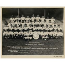 1964 New York Yankees 8x10 Photo Signed by (10) with Mickey Mantle, Whitey Ford, Roger Maris (JSA LO
