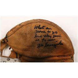 Joe Garagiola Signed Umpire Award Catchers Glove with Inscription (JSA COA)