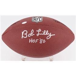 """Bob Lilly Signed NFL Football Inscribed """"HOF '80"""" (Schwartz COA)"""