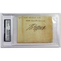 Thomas Jefferson Signed Cut (PSA Encapsulated)