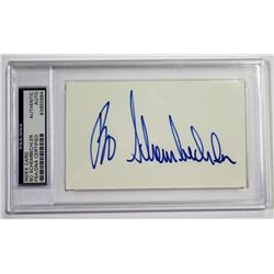 Bo Schembechler Signed Cut (PSA Encapsulated)