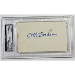 Otto Graham Signed Cut (PSA Encapsulated)