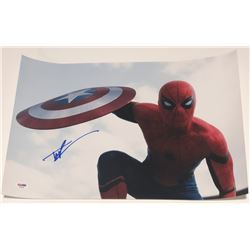 """Tom Holland Signed """"Spiderman: Far From Home"""" 12x18 Photo (PSA COA)"""
