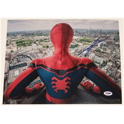 """Tom Holland Signed """"Spiderman: Far From Home"""" 11x14 Photo (PSA COA)"""