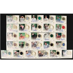 2002 SP Game Used Front 9 Fabric Lot Partial Set of (26/39) Golf Cards with #MI Johnny Miller, #DG D