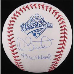"Dave Stewart Signed 1993 World Series Baseball Inscribed ""93 WS Champ"" (Schwartz COA)"