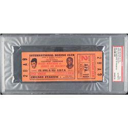 1953 Rocky Marciano vs. Joe Walcott Boxing Match Ticket (PSA Encapsulated)