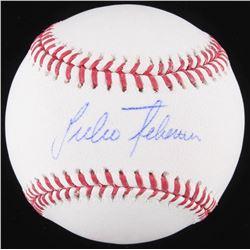 Julio Teheran Signed OML Baseball (Schwartz COA)