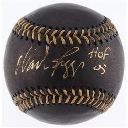 """Wade Boggs Signed Black Leather OML Baseball Inscribed """"HOF 05"""" (JSA COA)"""