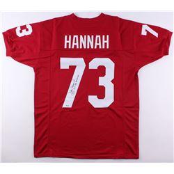 "John Hannah Signed Alabama Crimson Tide Jersey Inscribed ""2x All American"" (SGC COA)"