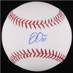 Jon Jay Signed OML Baseball (Schwartz COA)
