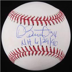 "Dave Stewart Signed OML Baseball Inscribed ""NH 6/29/90"" (Schwartz COA)"