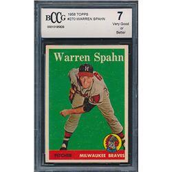 1958 Topps #270 Warren Spahn (BCCG 8)