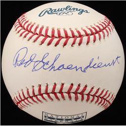 Red Schoendienst Signed OML Baseball (JSA COA)