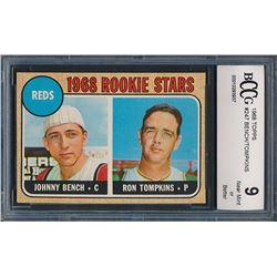 1968 Topps #247 Rookie Stars / Johnny Bench RC / Ron Tompkins (BCCG 9)