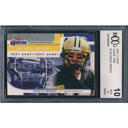 2001 Fleer Game Time #125 Drew Brees RC (BCCG 10)