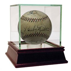 1928 New York Yankees Team-Signed OAL Baseaball with (17) Signatures Including Babe Ruth, Lou Gehrig