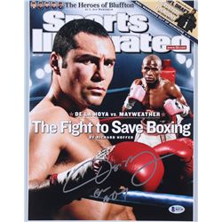 "Oscar De La Hoya Signed Sports Illustrated Cover 11x14 Photo Inscribed ""Golden Boy"" (Beckett COA)"
