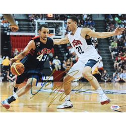 Steph Curry  Klay Thompson Signed Team USA 11x14 Photo (PSA LOA)