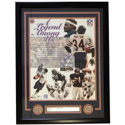 Walter Payton Signed Chicago Bears 22x27 Custom Framed Photo Display (PSA LOA)