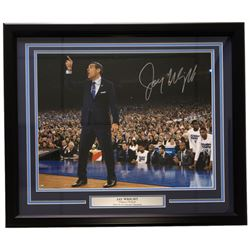 Jay Wright Signed Villanova Wildcats 22x27 Custom Framed Photo Display (Steiner COA)