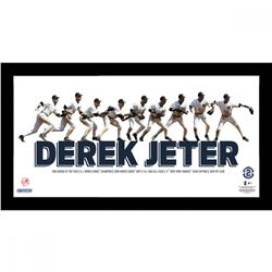 Derek Jeter Custom Framed New York Yankees 10x19 Custom Framed Photo Display