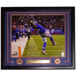 Odell Beckham Jr. Signed New York Giants 22x27 Custom Framed Photo Display (JSA COA)