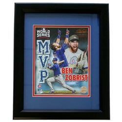 "Ben Zobrist Cubs ""World Series MVP"" 14x17 Custom Framed Photo Display"