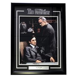 "Al Pacino Signed ""The Godfather"" 22x30 Custom Framed Photo Display (Beckett COA)"