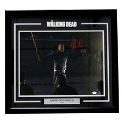 "Jeffery Dean Morgan Signed ""The Walking Dead"" 25x27 Custom Framed Photo Display (JSA COA)"