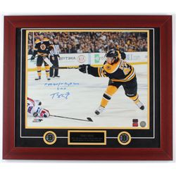 "Torey Krug Signed Bruins 23x27 Custom Framed Photo Display Inscribed ""1st NHL Goal / 1st Playoff Gam"