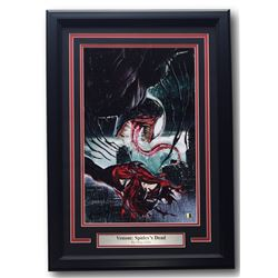 "Greg Horn Signed ""Venom: Spidey's Dead"" 17x25 Custom Framed Print Display (SI COA)"