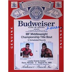 "Iran Barkley Signed ""Budweiser"" 11x14 Photo Inscribed ""Blade"" (JSA COA)"