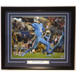 Marcus Mariota Signed Tennessee Titans 22x27 Custom Framed Photo Display (PSA COA)
