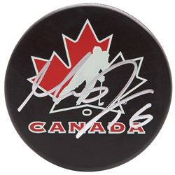 Max Domi Signed Team Canada Logo Hockey Puck (UDA COA)