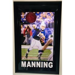 "Peyton Manning Signed Colts ""Breaking Through"" 27.5x43.5 Custom Framed Photo Display (JSA COA)"