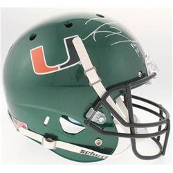 Ray Lewis Signed Miami Hurricanes Full-Size Helmet (JSA COA)