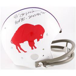 """O.J. Simpson Signed Bills Throwback Suspension Full-Size Helmet Inscribed """"HOF 85 - 2003 Yds '73"""" (J"""
